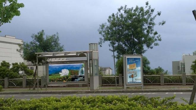 97年_台中科學園區候車亭媒體燈箱